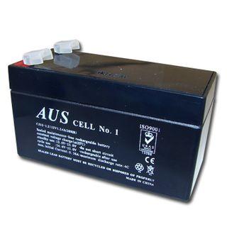 BATTERY, 12 Volt 1.3 AH sealed lead acid, Dimensions (not inc. terminals) 97(W)mm x 43(D)mm x 52(H)mm,