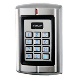 SEBURY, Keypad/Reader, Up to 2100 users, Standalone or 26 Bit Wiegand input/output, 2x relay outputs, HID compatible, Metal,Vandal/corrosion resistant,IP68,Backlit keys,Keypad FC=0,12-24V DC/12-18V AC