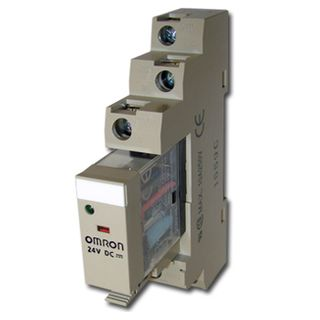 OMRON, Relay, 24V DC, SPDT, 240V AC 10A contacts with barrier isolation, Includes 1078YK base,