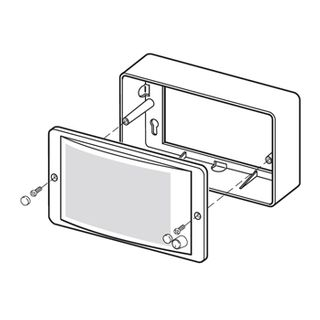 BOSCH, Panel speaker surface mount box, suits LBC3011/41 and 51