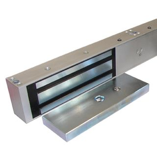 GEM, Electromagnetic lock, Double door, Surface mount, Monitored, 545kg (x2) holding force, Full size, 532(L) x 68(H) x 40(D)mm, 12VDC/24VDC, 500/250mA (x2),