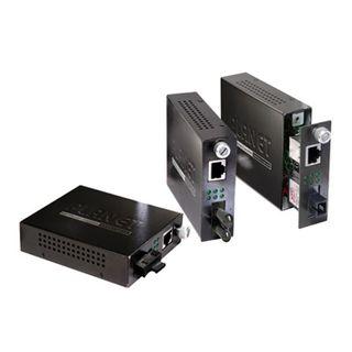 PLANET, Ethernet Over Fibre Converter, 10/100 TX/RX, 100Base-FX, ST connection suits multimode fibre, 2km, Smart web interface,