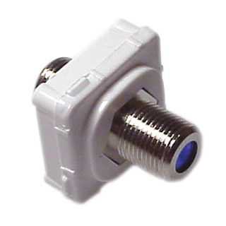 DATAMASTER, 'F' Type mech, Double 'F' Type socket front and rear, White mech, Suit Datamaster & Clipsal Plate,