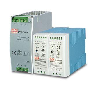 PLANET, Din Rail 75 Watt, 24V DC, Hardened -40 to +75 degrees C, DIN rail