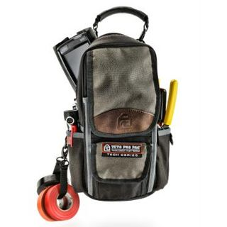 VETO PRO PAC, Tech Series, HVAC technician tool bag, Closed style, 10 vertical tool pockets, 2 meter pockets, Weather resistant fabric, 203(L) x 76(W) x 330(H)mm,