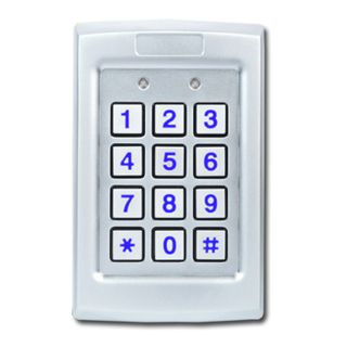 ROSSLARE, Keypad, Stainless Steel, Vandal and corrosion resistant body, Wiegand 26 and 30 bit formats, Backlit keys, Optical tamper switch, IP67 rated, 5-16V DC,