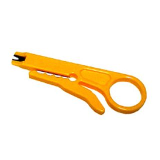 NETDIGITAL, Cable stripper, Round cable, Ideal for Cat5E, Cat6, security and telephone cable, In built 110 IDC tool,