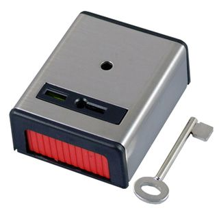 NETDIGITAL, Duress hold up button, Single press, Stainless steel, Key resettable,