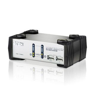 ATEN, KVM USB switch, 2 Port, Audio