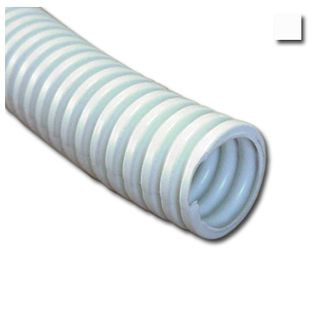 AUSSIEDUCT, Corrugated conduit, 25mm x 50m coil, White, Medium duty, No draw wire,