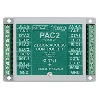 NIDAC (Presco),Twin Decoder (400 Users), Up to 10 encoders can be connected to one decoder input, 2x 5 amp relay contacts, 4 units can be connected to one DataLogger,