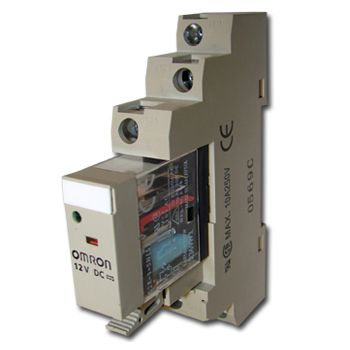 OMRON, Relay, 12V DC, SPDT, 240V AC 10A contacts with barrier isolation, Includes 1078YK base,