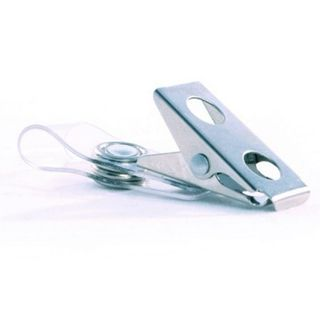 NETDIGITAL, Card attachment, Alligator clip, Metal, Holed, With vinyl U-strap and raised snap, No safety pin