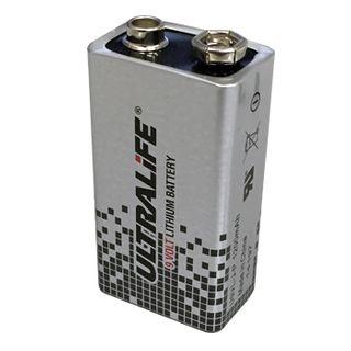 BATTERY, Ultralife 9 Volt lithium,