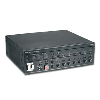"BOSCH, Plena VAS system controller and amplifier, 240W RMS, 6 Zones, Built-in message manager, 12 inputs for message trigger, Outputs for high impedance 100V line, 19"" Rack mount"
