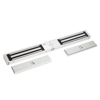 FSH, Electromagnetic lock, Double door, Surface mount, Monitored, 280kg (x2) holding force, 4 hour fire rated, Medium size, 477(L) x 48(H) x 25(D)mm, 12VDC/24VDC, 500/250mA (x2),