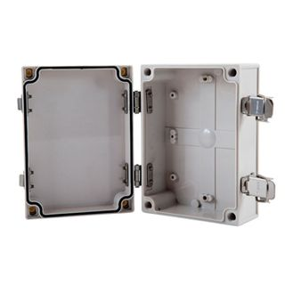 NETDIGITAL, Enclosure, Plastic, Grey, Weatherproof, With hinged door, IP54,