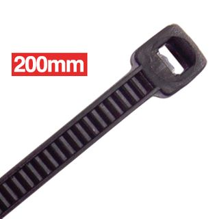 CABAC, Cable ties, 200mm x 4.8mm, Black, Packet of 100,