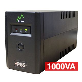 PSS, Alto Series, 1000 VA True line interactive UPS, Power filtering (lightning and surge protection), short circuit/overload protection, power management software,