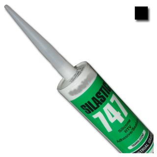 DOW CORNING, Silastic, Black, RTV silicone adhesive sealant, Neutral cure, 300gm,