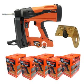 RAMSET, Cablemaster pulsa 800 tool, Gas technology fastening sytem, Includes 2 x P8CPGCL Clipelec contractor packs,