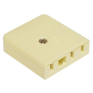 TELEMASTER, Telephone socket, Standard phone socket, Commercial grade, Suits 605, 606 and 603 telephone plugs, Ivory,