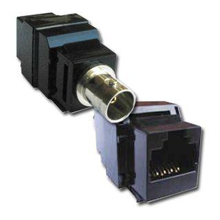 EQL, Teleconnect, Balun, 1x Video, Keystone mountable slim line case, BNC female to RJ45 jack, Passive,