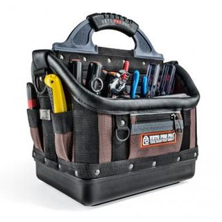 VETO PRO PAC, Contractor Series, Large HVAC technician tool bag, Open style, 36 tiered pockets, 4 zippered pockets, Weather resistant base & fabric, 340(L) x 240(W) x 370(H)mm