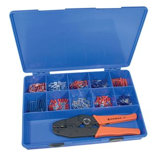 CABAC, Terminal tool kit, Pre insulated  crimp lugs, Includes ratchet crimp tool,