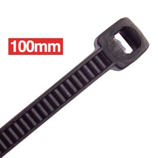 CABAC, Cable ties, 100mm x 2.5mm, Black, Packet of 100,