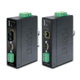 PLANET, Fibre converter, RS-232/RS-422/RS-485, Suits multimode fibre up to 2km, IP-30, Metal case, 12 - 48VDC,