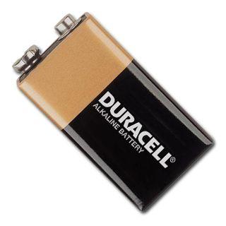 BATTERY, Duracell 9 Volt alkaline,