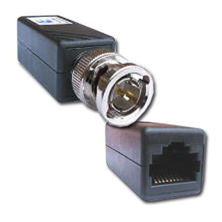 EQL, Teleconnect, Balun, 1x Video, Wall mountable slim line case, BNC male to RJ45 jack, Passive,