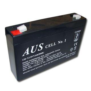 BATTERY, 6 Volt 5.4 AH sealed lead acid, Dimensions (not inc. terminals) 68(W)mm x 46(D)mm x 98(H)mm,