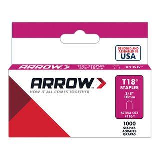 "ARROW, Staples, T18, 3/8"" (10mm), Pkt 1000"