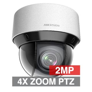 "HIKVISION, 2MP HD-IP DARKFIGHTER Outdoor PTZ camera, 4X Zoom, 2.8-12.0mm lens, 50m IR,  WDR, Day/Night (ICR), 1/1.9"" CMOS, H.265, IP66, 12V DC/PoE+"