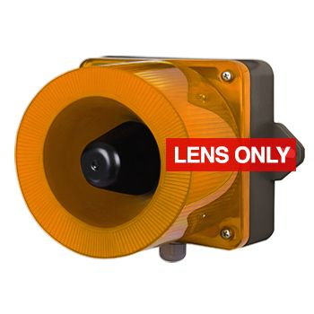 QLIGHT, QWCD AMBER lens only to suit combination unit, replacement lens