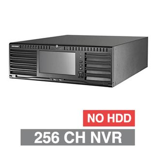 HIKVISION, 9600 Series HD-IP NVR, 256 channel, 768Mbps bandwidth, Up to 16x SATA HDD (16x 8TB max), RAID, VMD, USB/Network backup, Ethernet, 2x USB2.0 & 2x USB3.0, 1 Audio In/Out, 2x HDMI/1x VGA