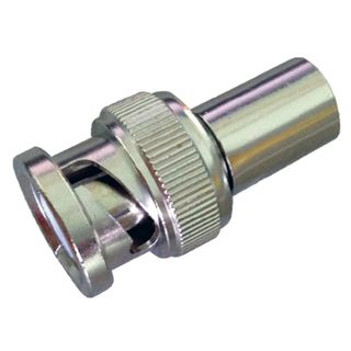 NETDIGITAL, BNC connector, Male, Crimp type, Suits RG6 solid copper coaxial cable