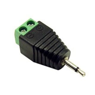 XTENDR, 3.5mm phono plug to 2 wire screw terminal, mono audio