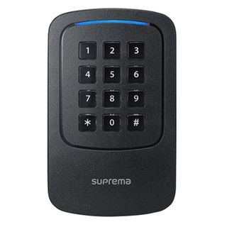 SUPREMA, XPass D2 Outdoor compact Keypad/Reader,  RS-485 OSDP secure connection to CoreStation, Wiegand, EM, Mifare, DESFire/EV1, FeliCa, Mobile card (NFC/BLE), IP67, IK08, 12V DC,
