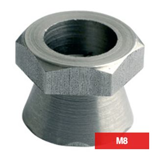 PROLOK, Security screw, Shear nut, M8, 1 way, Zinc plated, Pack of 10,