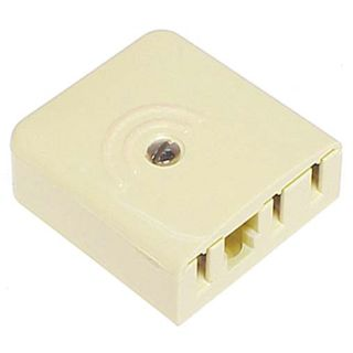 TELEMASTER, Telephone socket, Mode 3 alarm system data socket, Suits 604, 605, 606  telephone plugs, Includes contact cams, Ivory,