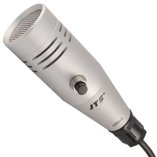 JTS, Dynamic push-to-talk cardioid paging microphone, 50-15KHz frequency response, With coiled cable and 5-pin XLR connector, Includes wall hook