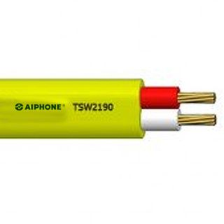 AIPHONE, KB Wire Polyethylene Cable, 0.9mm Dia Conductor, Yellow, suits all Aiphone video intercoms, 100m roll,