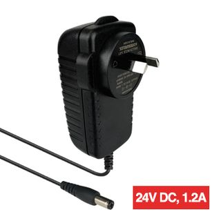 POWERMASTER, 30G Series, Switch mode power supply, Plug pack, 24V DC, 1.2 amp, Regulated, 2.1mm DC plug, Centre positive,