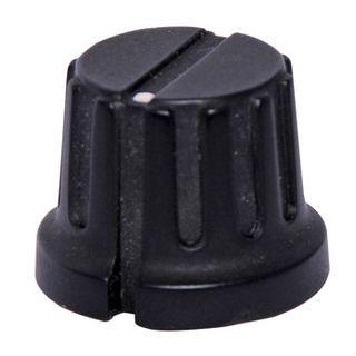 "NETDIGITAL, 20mm black PVC knob, 1/4"" (6.35mm) shaft, Includes grub screw,"