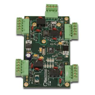 KERI, NXT series, I/O expansion module, Provides 4 additional auxiliary inputs and 4 additional auxiliary outputs, LED status indicators for power, communication and relay position, 10-14V DC 250mA,