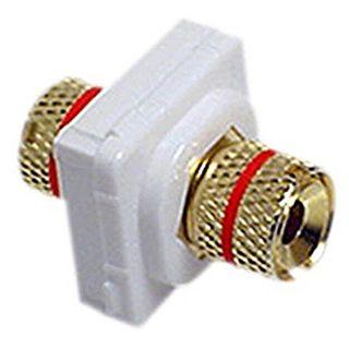 DATAMASTER, Speaker mech, Red, Speaker Terminal/Banana socket front and rear, White mech, Suit Datamaster & Clipsal Plate,