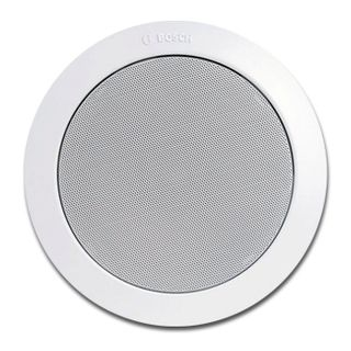 "BOSCH, EasyFit speaker, Ceiling mount, 15W, 8"" (200mm), includes white metal grille, Wide dispersion, Rota-clamp mounting 100V line (Taps at 1.25, 2.5, 5, 10, 15W),"